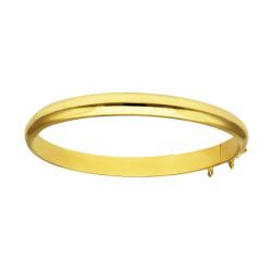 Pulsera oro amarillo 18 kts rígida lisa
