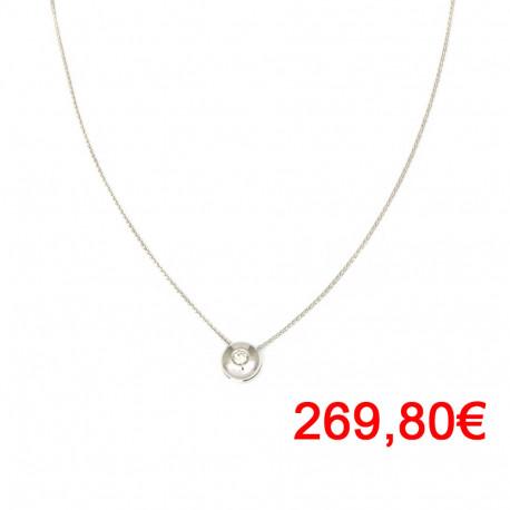Gargantilla oro 18kts blanco diamante