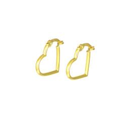 Pendientes aro oro amarillo18 kts forma de corazón