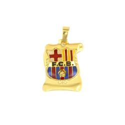 Colgante escudo F.C Barcelona de oro 18 kts