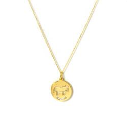 Horóscopo Tauro en oro 18 Kts con circonitas