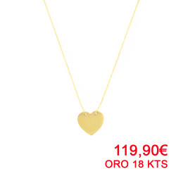 Gargantilla oro amarillo 18kts con corazón