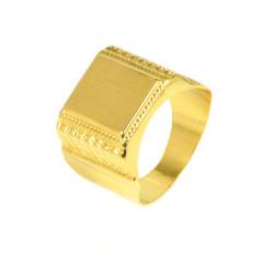 Anillo hombre oro  18 kilates sello