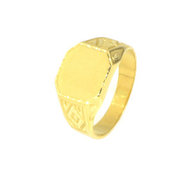 Anillo oro 18 kilates sello