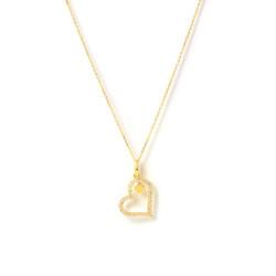 Gargantilla oro 18 Kts corazón circonitas