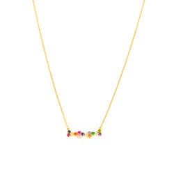 Gargantilla oro 18 Kts piedras multicolor