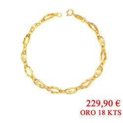 Pulsera oro amarillo 18 kts circonitas