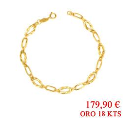 Pulsera oro amarillo18 kts mujer