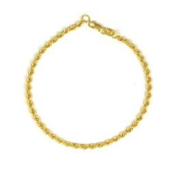 Pulsera oro amarillo 18 kts  cordón