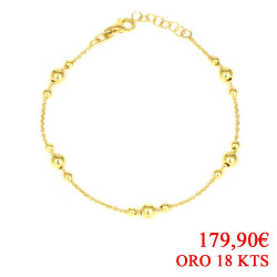 Pulsera oro amarillo 18 kts  bolas