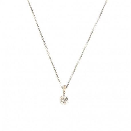 Gargantilla oro blanco 18kts diamantes