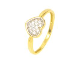 Anillo oro 18 kilates bicolor corazón