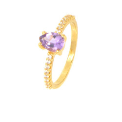 Anillo amatista oro 18 kilates