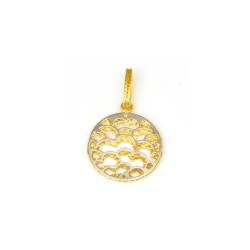 Colgante mandala oro de18 kts bicolor