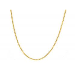 Cadena de oro 18 kts forzada semi maciza