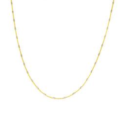 Cadena de oro 18 kts  maciza bicolor