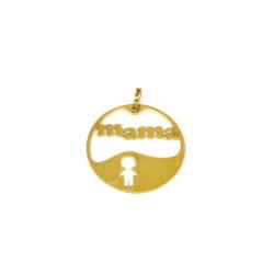 Colgante oro mama de18 kts