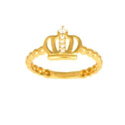 Anillo corona oro amarillo 18 kilates