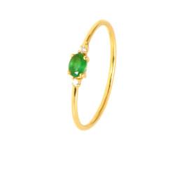 Anillo esmeralda y diamantes oro 18 kilates