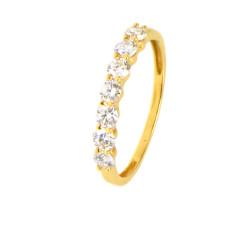 Anillo de 7 diamantes en oro 18 Kts