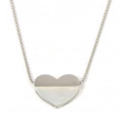 Gargantilla de plata corazón